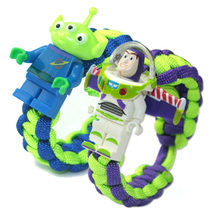 Toy Story 3 Buzz Lightyear Bracelet Building Blocks Toys Action Figures Children Gift