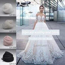 High grade silky Super soft tulle mesh yarn diy wedding dress lace fabric