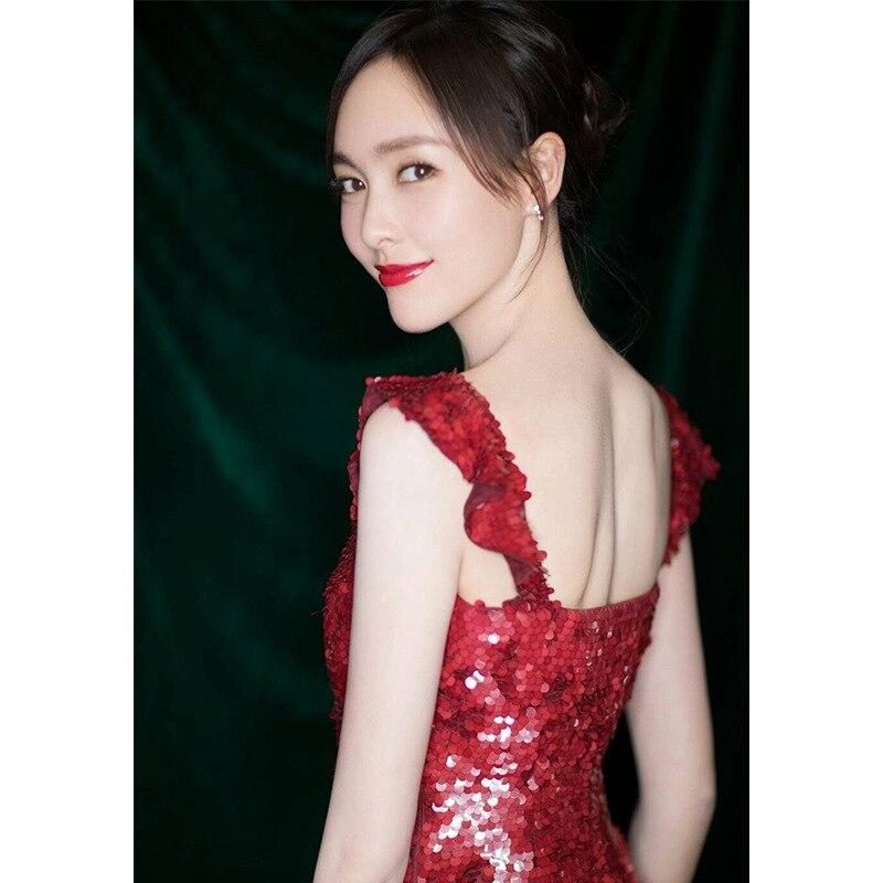 Rouge Parti Banquet Formelle Robes Mesure Femmes Mariage Sur Scintillement De Robe longueur Soirée Maxi Paillettes Longue Cheville Des HfAcqUv1