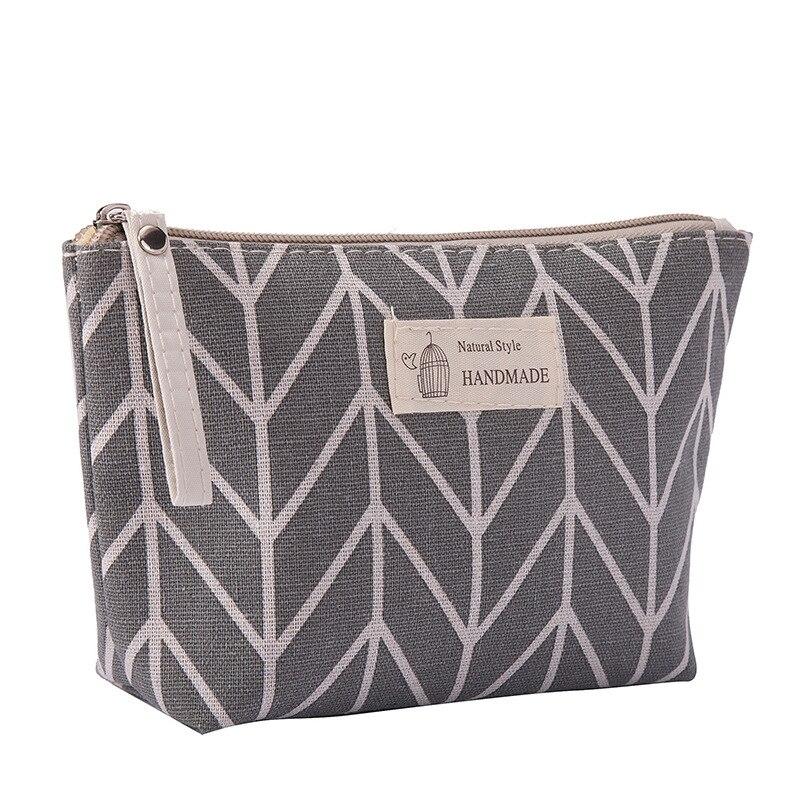 Women Plaid Travel Cosmetic Bag Makeup Bags Handbag Female Zipper Purse Small Make Up Bags Travel Beauty Organizer Pouch
