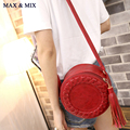 Fashion Brand Women Bag Tassel Women Messenger Bag Woven Crossbody Shoulder Bag Ladies Cute Knitting Circular