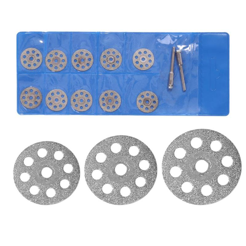 12pcs/set Mini Rotary Tool Multi-functional Circular Saw Blades Diamond Plexiglass Agate Jade Cutting Wheel Discs