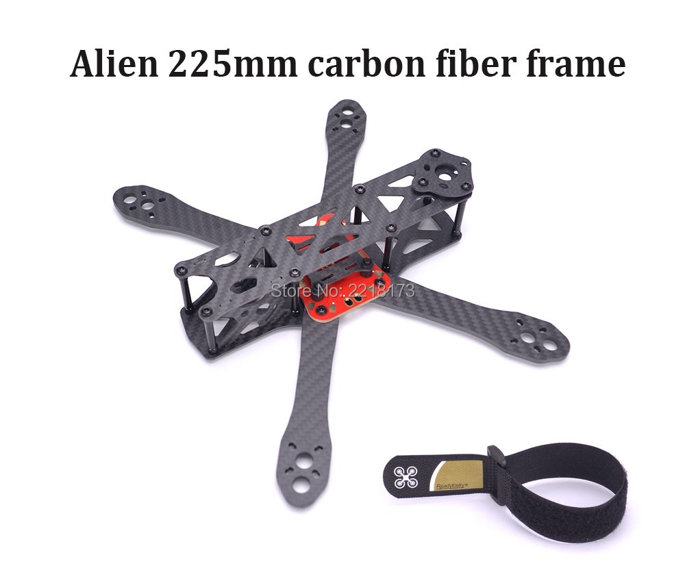 Alien 225 225mm FPV Quadcopter Frame DIY Cross Racing Mini Drone Pure Carbon Fiber with 4mm arm Better than Martian 220mm eyas 55 7mm 8mm pure carbon fiber brush coreless quadcopter frame for diy fpv micro indoor mini drone with camera
