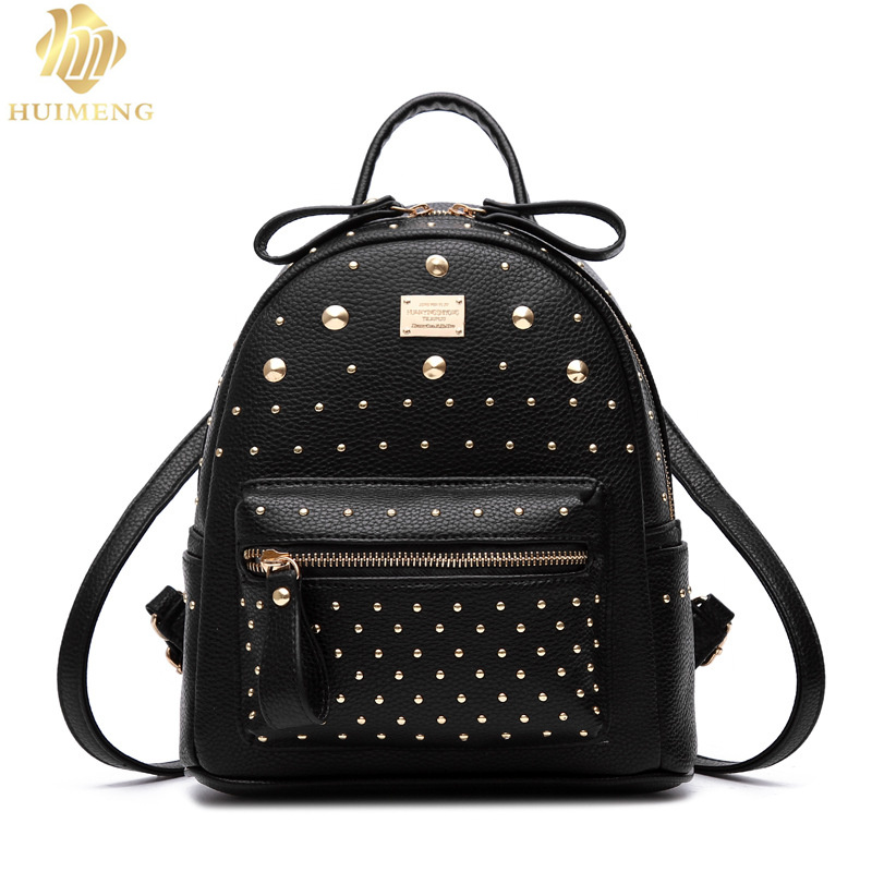 HUIMENG Brand Women Backpacks Hot Sale Fashion Causal bags High Quality bead female shoulder bag PU