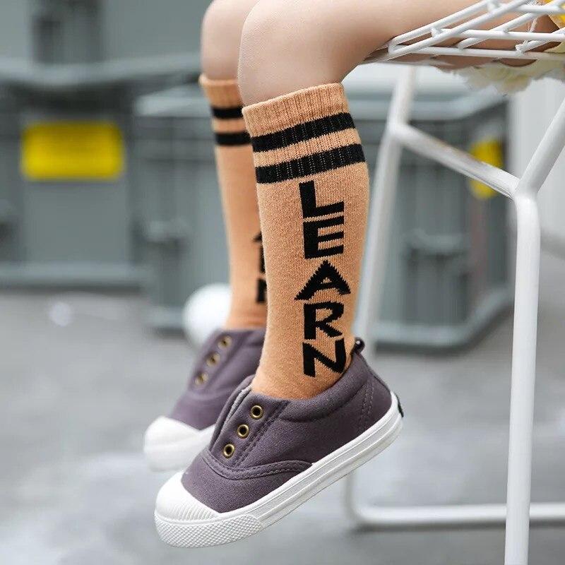 New-autumn-socks-Kids-Long-Socks-Knee-High-toddler-Girls-Boot-Sock-Leg-Warmer-Cute-striped-Black-baby-Cotton-Sock-for-baby-girls-4