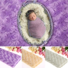 2017 Newborn Photography Props Baby Photo Rose Floral Backdrop Plush Blanket Soft  MAY12_35