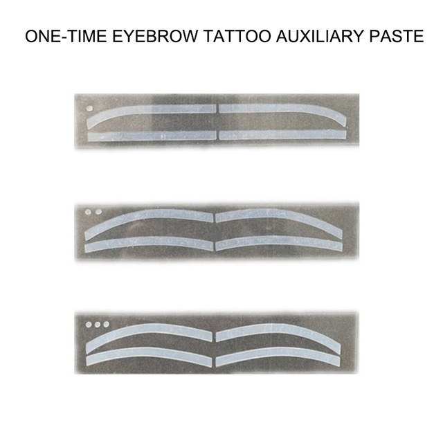 6 Pair Disposable Eyebrow Tattoo Shaping Auxiliary Sticker Templates Eyebrow Stencil SK88 5