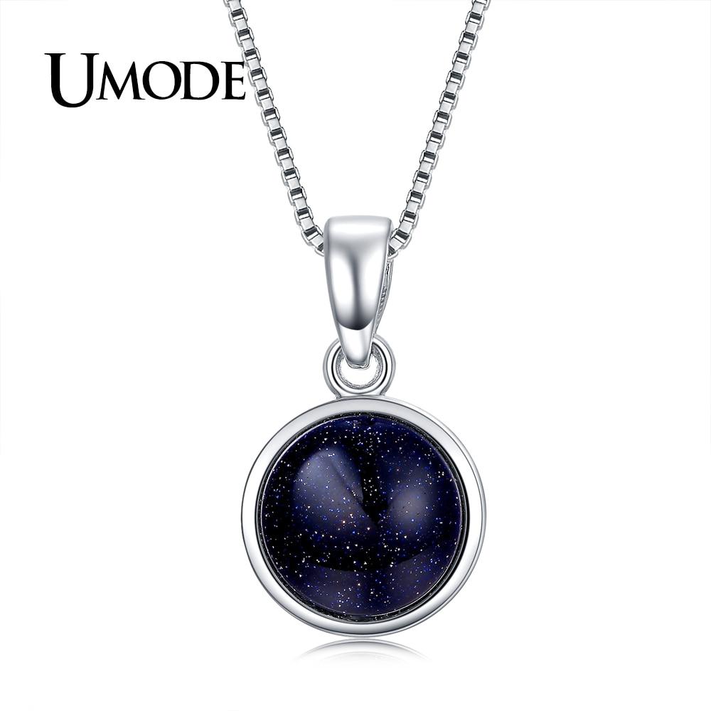 UMODE Brand Design New Fashion Charm Blue Fire Opal Link Cha