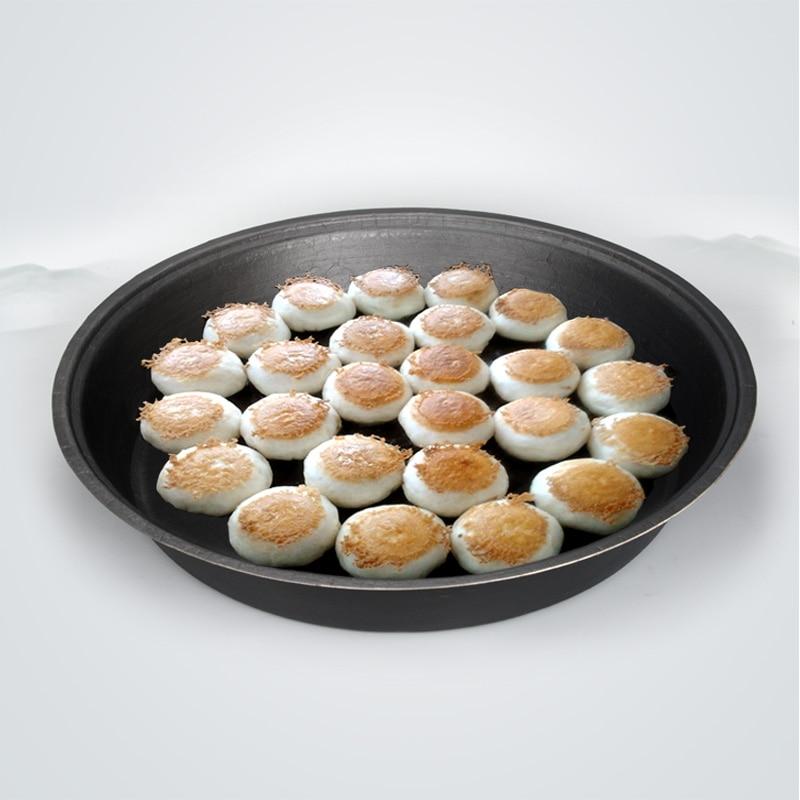Chinese old cast iron big frying flat bottom gas cooker pot nonstick iron pancake pan pan-fried dumplings pork bun shengjianbao