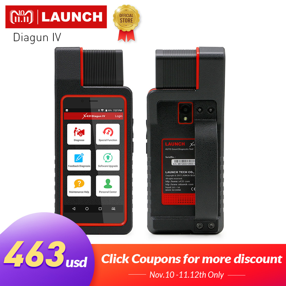 LAUNCH X431 Diagun IV Auto Full System Diagnostic Tool Support Bluetooth/Wifi with 2 Year Free Update better than diagun iii free shipping launch m diag lite for android ios with built in bluetooth obdii mdiag m diag lite better than x431 idiag easydiag
