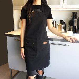 Image 2 - Lady women men ajustável lona de alta qualidade cozinha avental para cozinhar cozimento restaurante manicure salão de beleza casa evitar óleo