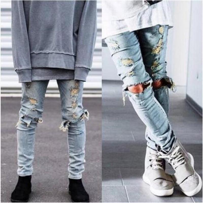 High Quality Men Ripped Jeans Destroyed Jeans Mens Hip Hop Zipper Biker Denim Pants Justin Bieber Ripped Jeans for Men