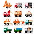 Горячая Продажа! 12 Шт. Мини Автомобили Украшения Деревянные Модели Автомобилей Toy Транспорт Игрушки для Детей brinquedo menino