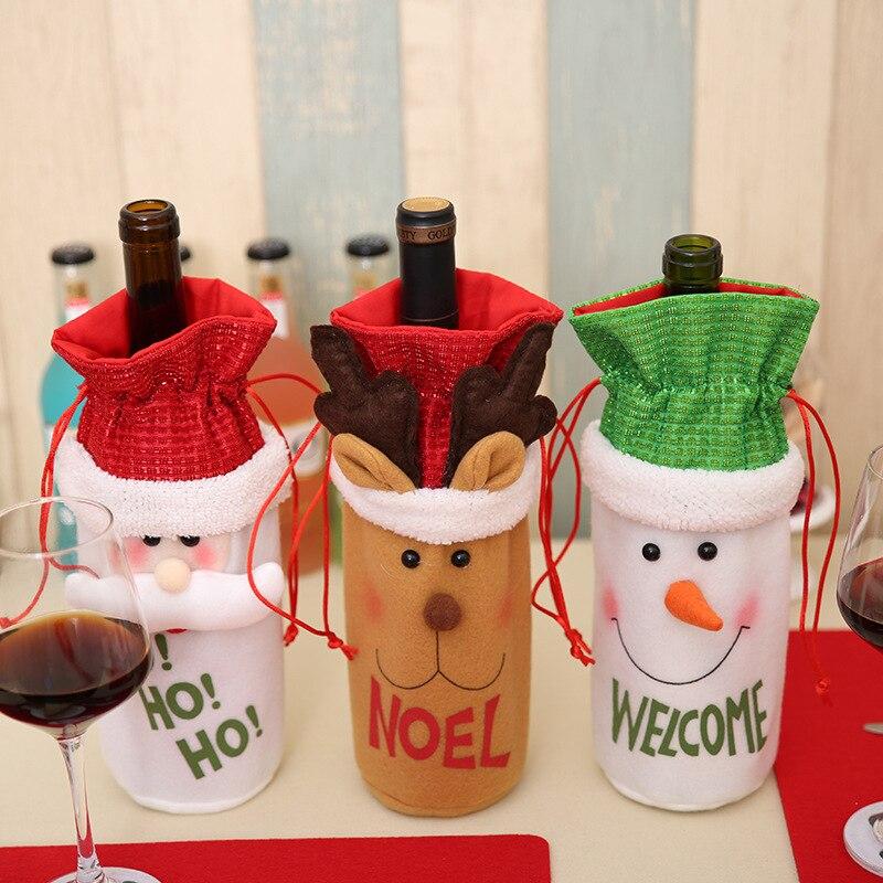 Weihnachtsschmuck Weihnachtsmann Weinflasche Taschen Schneemann ...