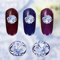10pcs Silver Alloy Nail Rhinestones Ornament Jewelry Design Diamond Beads Nail Art Decoration For Nails Crystal