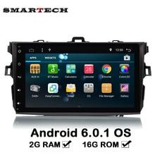 SMARTECH 2G RAM 2Din Pour Toyota Corolla 2006-2011 Voiture Audio Radio Vidéo Quad core Android 6.0 Voiture Volant GPS Navigation