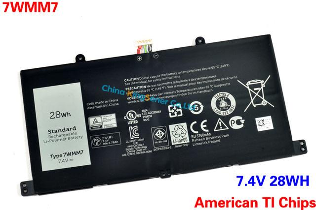 Calidad Original nueva batería del ordenador portátil 7WMM7 para DELL lugar 11 Pro muelle del teclado D1R74 7WMM7 CFC6C CP305193L1 DL011301-PLP22G01