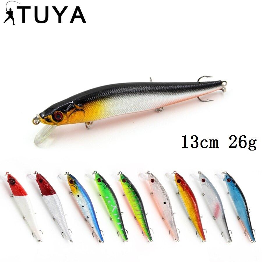 10 pz/lotto grande Mare di pesca A Traina Esche Da Pesca 13 cm 26g Wobbler Minnow Esche Artificiali Bionic pesce Jerkbait sea bass culter salmone