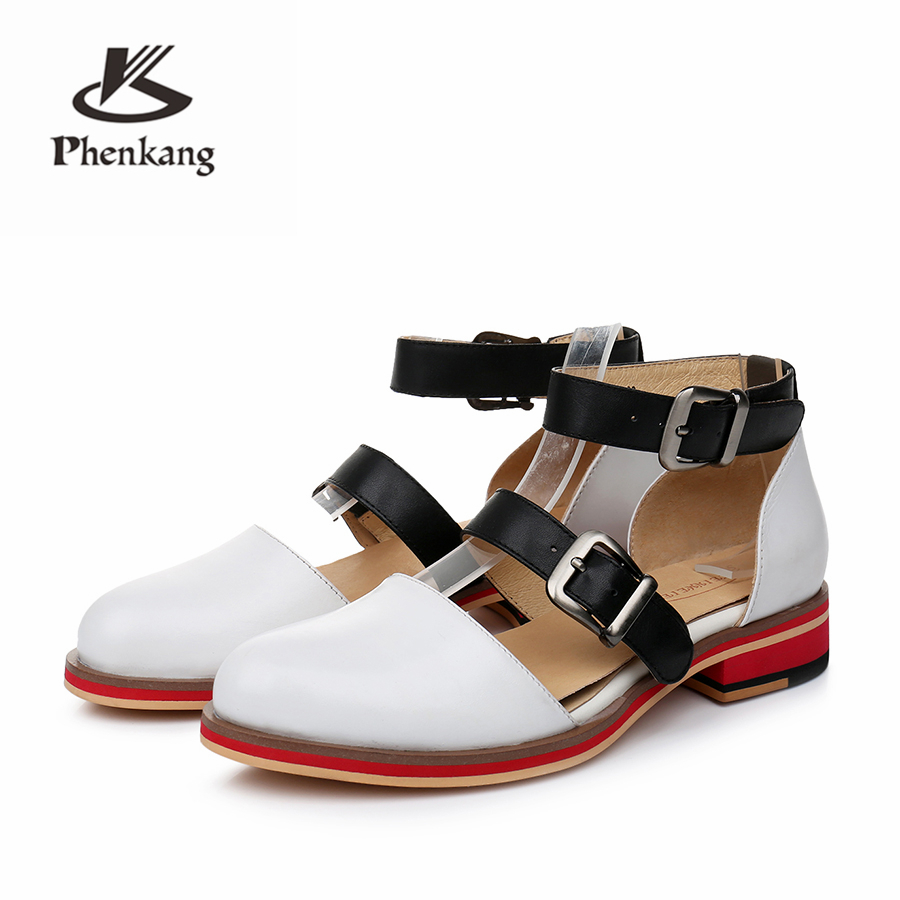 6d4817493198a Genuine sheepskin leather brogue yinzo lady flats Sandals shoes vintage  handmade oxford shoes for women pink red blue 2019
