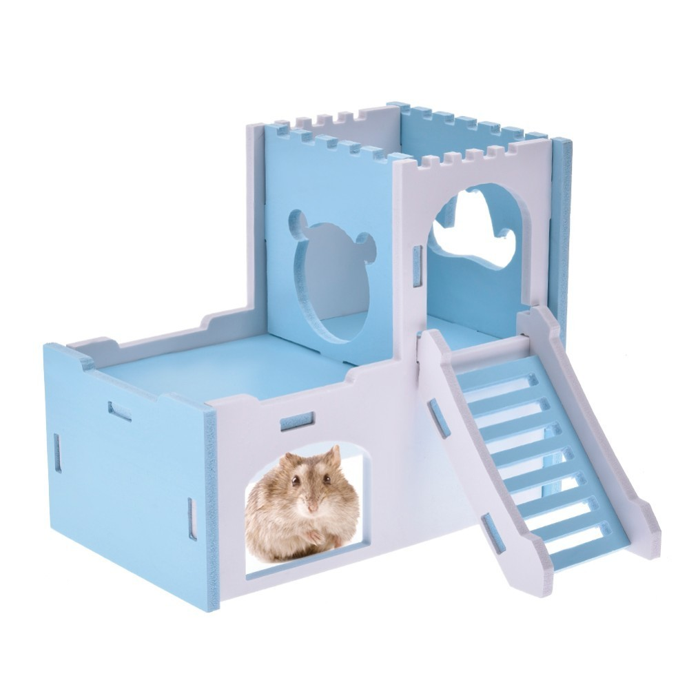 Detachable Hamster House Cages for Pink Rat Mouse Exercise Natural ...