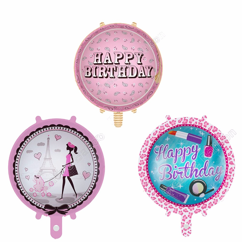 Pink Happy Birthday Letter Balloons.Us 1 55 8 Off 3pcs Lot Happy Birthday Letter Balloons Pink Ballons Foil Baby Girl Princess Lipstick Party Supplies Heart Dog Lady Eiffel Tower In