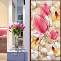 5D DIY Diamond Painting Crystal Tulip Flowers Fish Animal Cross Stitch Decorative 3d Diamond Embroidery Full