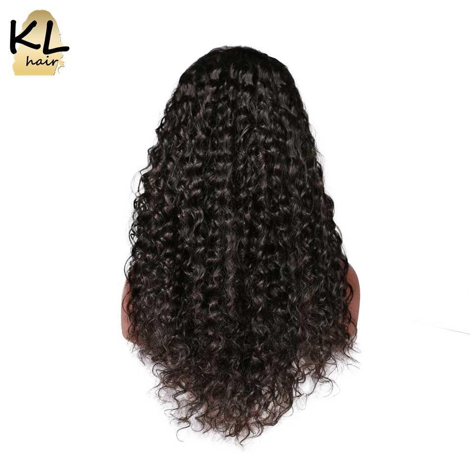 Парики из натуральных волос на кружевной основе для черных женщин, бразильские волосы remy естественного цвета, парики с детскими волосами, отбеленные узлы KL