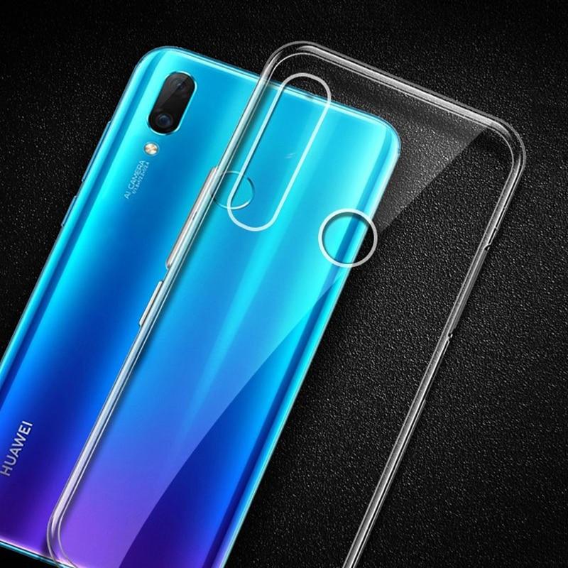 Per Huawei P Smart Z Caso di TPU Slim Fit Trasparente Silicone Trasparente Molle Della Copertura Posteriore per HUAWEI Y9 Prime 2019 cassa del telefono
