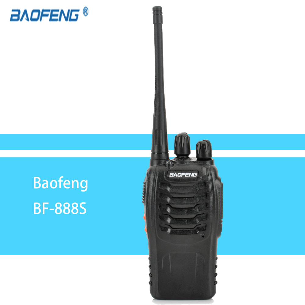 1pcs Walkie Talkie Radio BaoFeng BF-888S 16CH 5W Portable Ham CB Radio Two Way Handheld UHF Transceiver Interphone Bf-888s