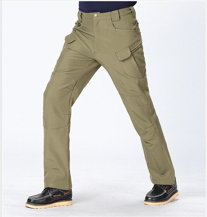ФОТО Archon ix7 Outdoor Camping Hiking fleece Pants Men Sport Hunting Windproof Waterproof Thermal Breathable Soft Shell SlimTrousers