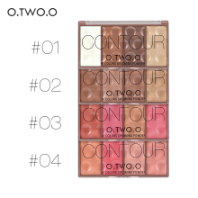 Natural O.TWO.O 4 Colors Professional Cheek Baked Blush Powder Face Contour Makeup Mineral oil and paraben-free formul