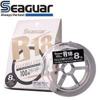 Оригинальный SEAGUAR лески R18 Фтор LTD 80 M/100 м 100% рыболовная леска их Фторуглерода Сделано в Японии высокую прочность мягкость