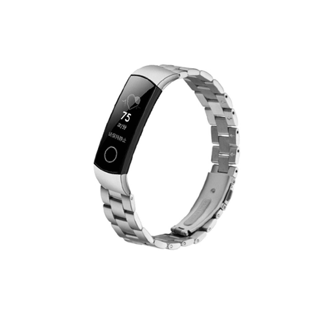 Металлический ремешок для honor band 5 4, браслет из нержавеющей стали, браслет для huawei honor band 5, оксиметрические Смарт-часы, модный ремешок для час...