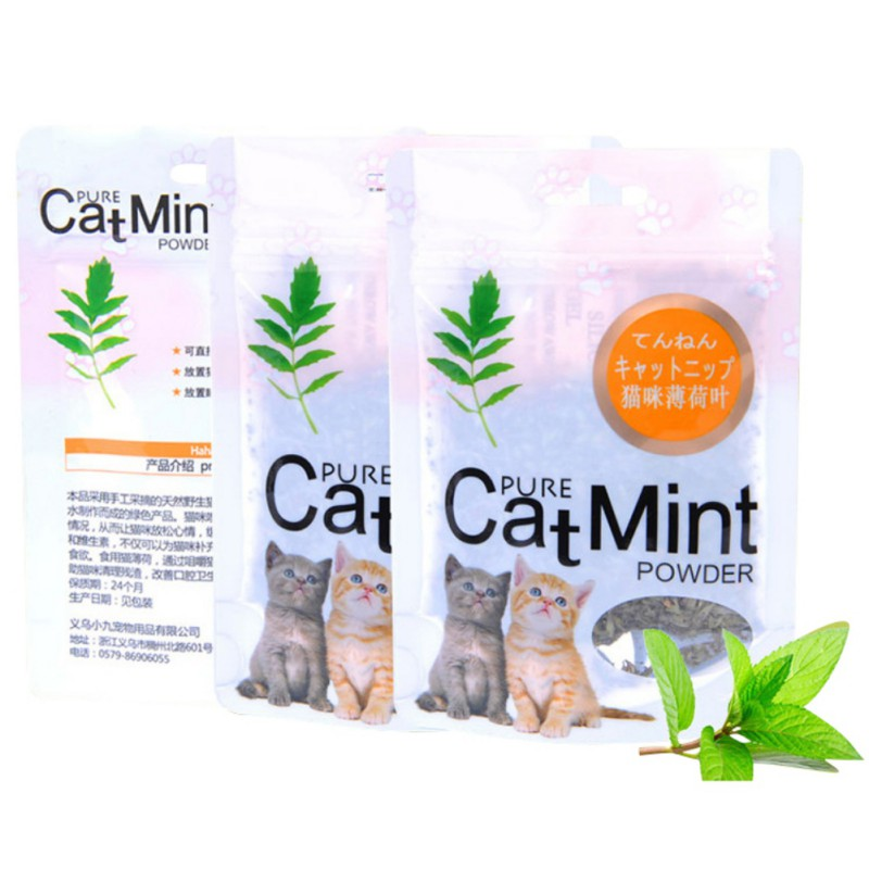 Cat Mint Natural Organic Premium Catnip Cat Mint Menthol Flavor Cat Treats Funny Toys For A Cat
