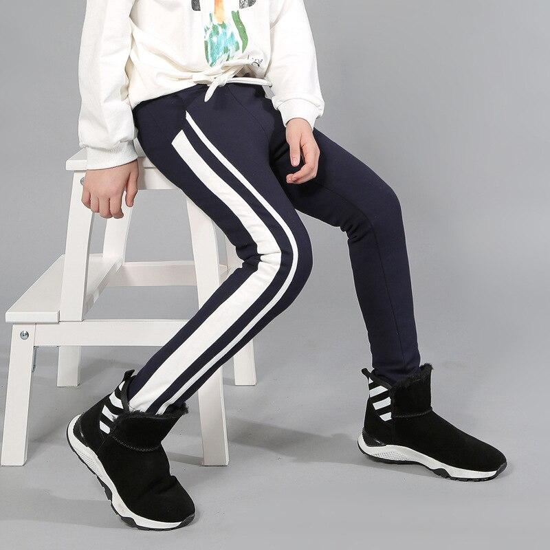 Nouveauté pantalon en duvet de canard blanc chaud pour grande fille hiver taille haute pantalon Skinny avec ceinture enfants épaissir les Leggings 4-15Y