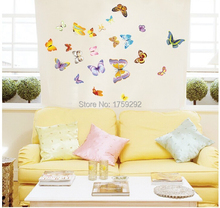 50 pcs PVC 3d Butterfly small europe cute Wall stickers Home decor Decoration Butterflies Decals Free shipping