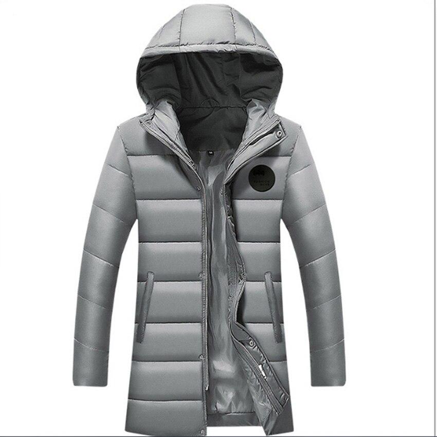 Flying Roc 2019 Men Casual Winter Parka Men Slim Jackets Hooded Long Coat Winter Jacket Men Clothes Hot Sale in Parkas from Men 39 s Clothing