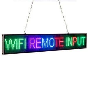 Image 2 - 66cm P5 RGB מלא צבע 16*128 פיקסל Led סימן אנדרואיד IOS WIFI מרחוק לתכנות גלילה הודעה פרסום תצוגת לוח