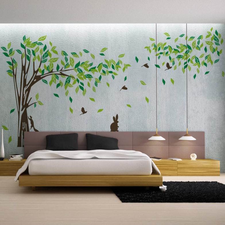 Tree Sticker Wall Decor popular tree wall decor-buy cheap tree wall decor lots from china