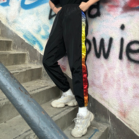 Rainbowtapered retro string with a thin pair of long pants ins ultra fire casual pants.