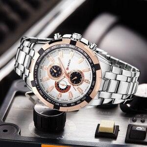 Image 3 - CURREN Fashion Business Men zegarki analogowy zegarek sportowy pełny stalowy wodoodporny zegarek na rękę dla mężczyzn relogio masculino męski zegar