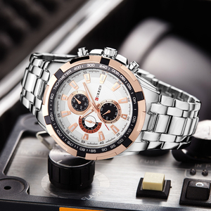 Image 3 - Relógio de pulso à prova dwaterproof água de aço completo relógio de pulso para homem relógio de pulso masculino
