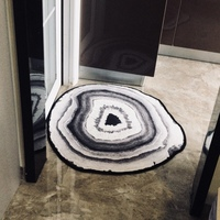 Nordic style Kids Decoration 3D Wood Tree Annual Rings Carpets Home Round Bathroom Doormat Pastoral Rugs Carpet for Living Room