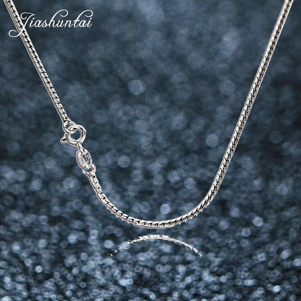JIASHUNTAI vintage pur argent 925 bijoux serpent chaîne long os collier pendentifs collier ras du cou 925-sterling-argent