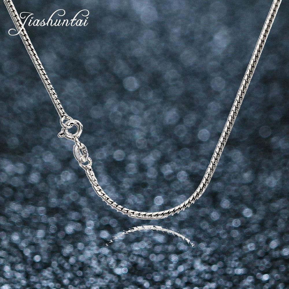JIASHUNTAI vintage pure Silver 925 jewelry Snake Chain long bone necklace pendants choker necklace 925-sterling-silverJIASHUNTAI vintage pure Silver 925 jewelry Snake Chain long bone necklace pendants choker necklace 925-sterling-silver
