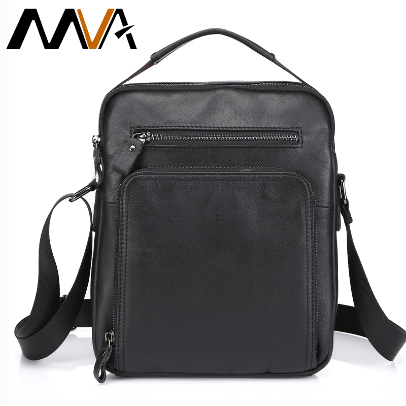 MVA Crossbody Bags Genuine Leather Shoulder Bags Messenger Bag Men Leather Men's Bag Black iPad Flap Small Shoulder Handbags jason tutu promotions men shoulder bags leisure travel black small bag crossbody messenger bag men leather high quality b206