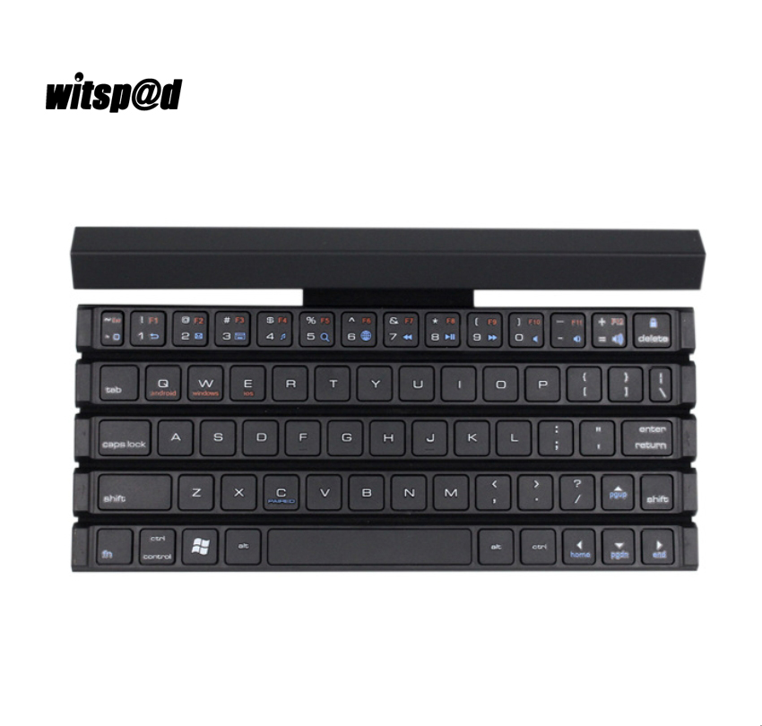 Witsp@d Curled keyboard for Tablet wireless 3.0 Bluetooth keyboard for Smartphone flat universal Android compatible for Sumsang
