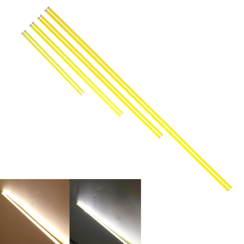 Купить с кэшбэком 5PCS LED COB Strip 400x6mm 12W 12V flexible Bar light tubes Warm White for DIY Outdoor bulb COB Camping Lamp source COB led