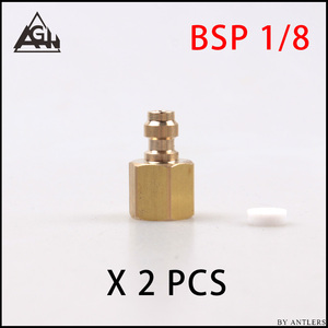 Image 3 - 8 Mm Plug Adapter Fittings Pcp Airsoft Paintball Pneumatische Snelkoppeling Vullen Tepel Man Vrouw 1/8 Bsp 1/8 Npt M10 * 1X2 Pcs