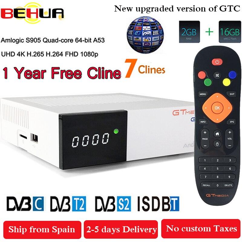 Freesat GTC Receptor DVB S2 DVB C DVB T2 Amlogic S905D android 6 0 TV BOX
